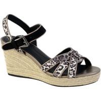 Chaussures Femme Espadrilles Geox Sandale D Soleil B CHESTNUT/BLACK
