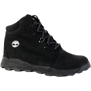 Chaussures Boots Timberland Basket Junior Brooklyn Mid Hiker Black Nubuck