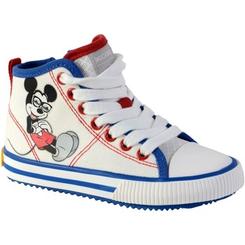 Chaussures Garçon Baskets montantes Geox Basket Montante  /Garçons J Alonisso B. H -CANVAS White/Royal
