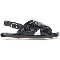 Chaussures Femme Sandales et Nu-pieds Pon´s Quintana Sandale Malena cuir tressé noir Noir