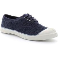 Chaussures Femme Tennis Bensimon -  LACET BRODERIE Bleu