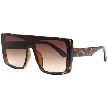 Montres & Bijoux Lunettes de soleil Eye Wear Grosses lunettes de soleil Tendance et Design Marron Kraw Marron