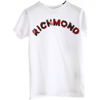 Vêtements Fille T-shirts manches courtes Richmond Kids RGP20129TS blanc noir