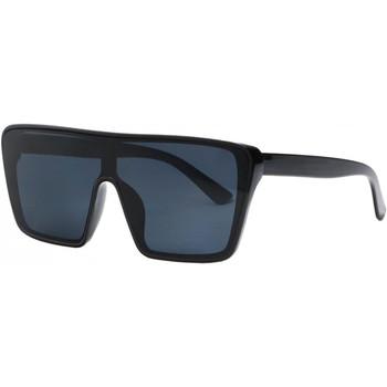 Montres & Bijoux Lunettes de soleil Eye Wear Grosses lunettes de soleil Noires Classe et Design Kyva Noir