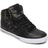 Chaussures Homme Chaussures de Skate DC Shoes PURE HT WC SP black camo print Noir