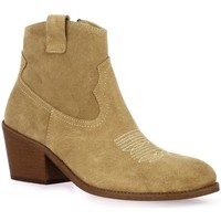 Chaussures Femme Bottines Exit Boots cuir velours Taupe