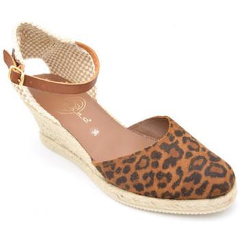 Chaussures Femme Espadrilles Kedzaro leopardo Marron