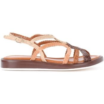 Chaussures Femme Sandales et Nu-pieds Pon´s Quintana Sandale Anais en cuir tressé Brun