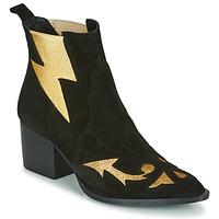 Chaussures Femme Bottines Fericelli NAUSSON Noir / doré