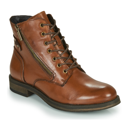 Chaussures Femme Boots Casual Attitude NUNAISE Camel