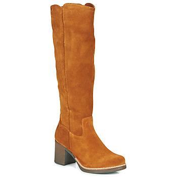 Chaussures Femme Bottes ville Casual Attitude HAPI Camel