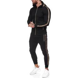 Vêtements Homme Ensembles de survêtement Monsieurmode Ensemble jogging homme Survêt 1424 noir Noir