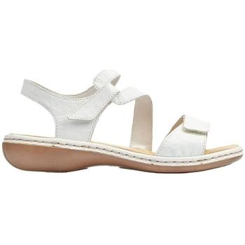 Chaussures Femme Sandales et Nu-pieds Rieker MASSA BLANC