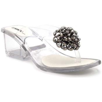 Chaussures Femme Tongs Emma Shoes Paris Argenté