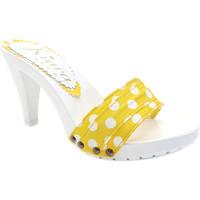 Chaussures Femme Mules Kiara Shoes K6401 Pois Jaune
