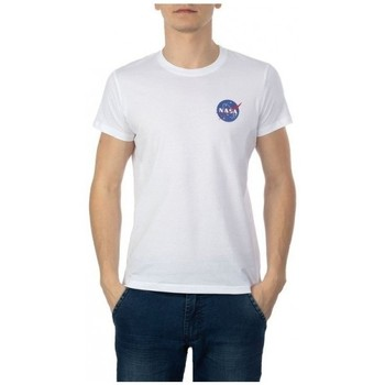 Vêtements Homme T-shirts manches courtes Nasa NS-BASIC-BALL Blanc