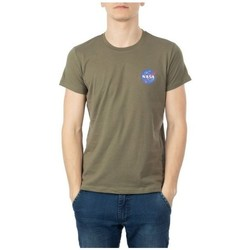 Vêtements Homme T-shirts manches courtes Nasa NS-BASIC-BALL Kaki