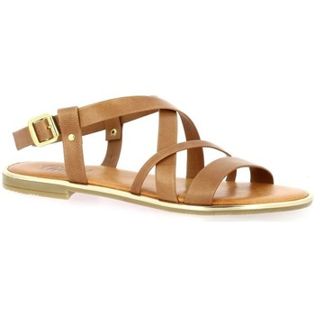 Chaussures Femme Sandales et Nu-pieds Pao Nu pieds cuir  whisky Whisky