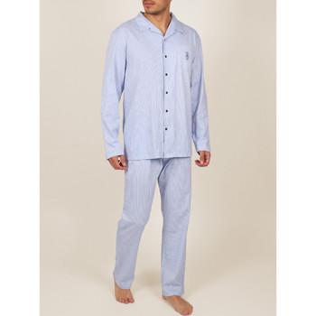 Vêtements Homme Pyjamas / Chemises de nuit Admas For Men Tenue d'intérieur pyjama pantalon chemise Fresh And Soft Bleu Marine