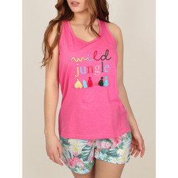 Vêtements Femme Pyjamas / Chemises de nuit Admas Pyjama short débardeur Wild Jungle rose Rose