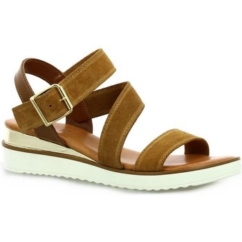 Chaussures Femme Sandales et Nu-pieds Pao Nu pieds cuir velours  whisky Whisky