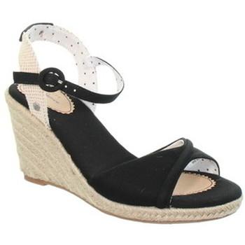 Chaussures Femme Sandales et Nu-pieds Pepe jeans Compensées  ref_49239 Black Noir