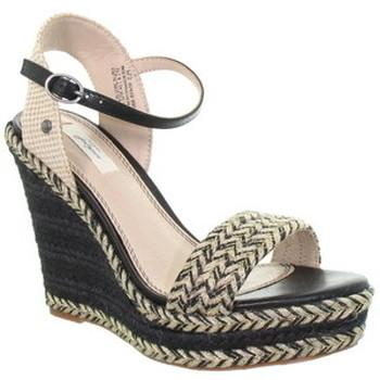 Chaussures Femme Sandales et Nu-pieds Pepe jeans Compensées  ref_49240 Noir/Nude Noir