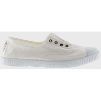 Chaussures Fille Baskets basses Victoria 106623 INGLESA ELASTICO blanc