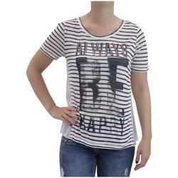 Vêtements Femme T-shirts manches courtes Deeluxe T Shirt femme Alison bleu encre Bleu