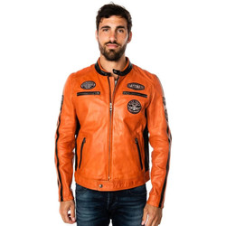 Vêtements Homme Vestes en cuir / synthétiques Daytona GALIANO SHEEP ATLAS VEG BURNT ORANGE Orange