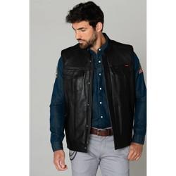 Vêtements Homme Vestes en cuir / synthétiques Daytona HOT ROAD GOAT DEER BLACK Noir