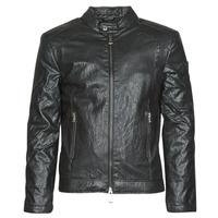 Vêtements Homme Vestes en cuir / synthétiques Guess PU LEATHER BIKER Noir