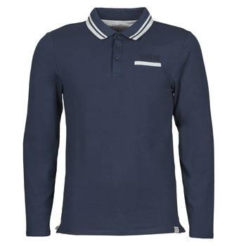 Vêtements Homme Polos manches longues Guess CLIVE LS POLO Marine