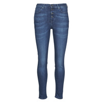 Vêtements Femme Jeans slim Guess 1981 EXPOSED BUTTON POWER Bleu foncé