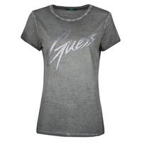 Vêtements Femme T-shirts manches courtes Guess SS CN IVONNE TEE Noir
