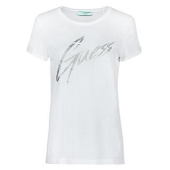 Vêtements Femme T-shirts manches courtes Guess SS CN IVONNE TEE Blanc