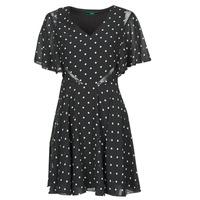 Vêtements Femme Robes courtes Guess ELLA DRESS Noir / Blanc