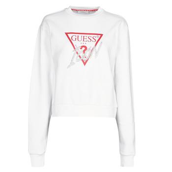 Vêtements Femme Sweats Guess ICON FLEECE Blanc