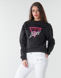 Vêtements Femme Sweats Guess ICON FLEECE Noir / Multicolore