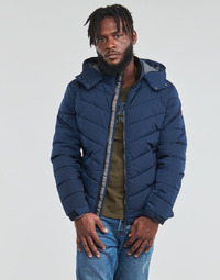 Vêtements Homme Doudounes Guess STRETCH PUFFA HOODED Marine
