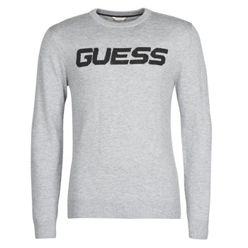 Vêtements Homme Pulls Guess LOGO SWEATER Gris
