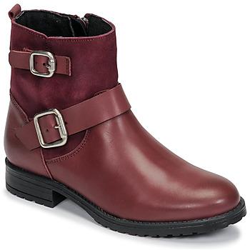 Chaussures Fille Boots Citrouille et Compagnie NIVOLE Bordeaux