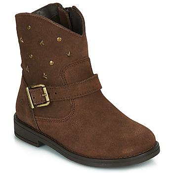 Chaussures Fille Boots Citrouille et Compagnie NESTI Marron
