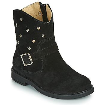 Chaussures Fille Boots Citrouille et Compagnie NESTI Noir