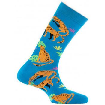 Accessoires Chaussettes Achile Mi-chaussettes Mixtes Guépard Turquoise