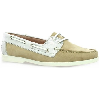 Chaussures Femme Mocassins Latina Mocassins cuir velours Beige
