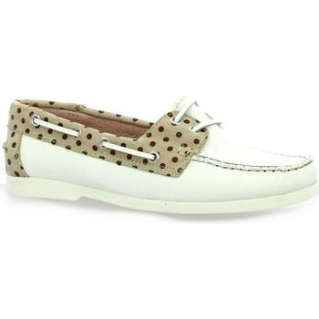 Chaussures Femme Mocassins Latina Mocassins cuir Blanc