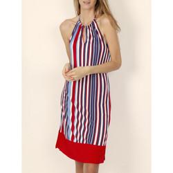 Vêtements Femme Robes courtes Admas Robe estivale dos nu Elegant Stripes rouge Rouge