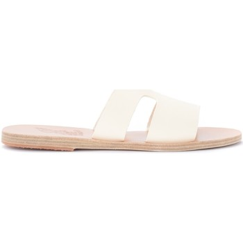 Chaussures Femme Mules Ancient Greek Sandals Ciabattina Apteros in pelle bianca Blanc