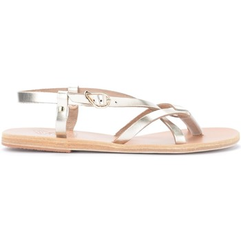 Chaussures Femme Sandales et Nu-pieds Ancient Greek Sandals Sandalo Semele in pelle metallizzata platino Or